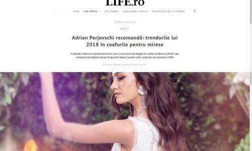 Adrian Perjovschi recomandă: trendurile lui 2018 în coafurile pentru mirese