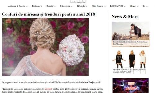 Coafuri de mireasă și trenduri pentru anul 2018