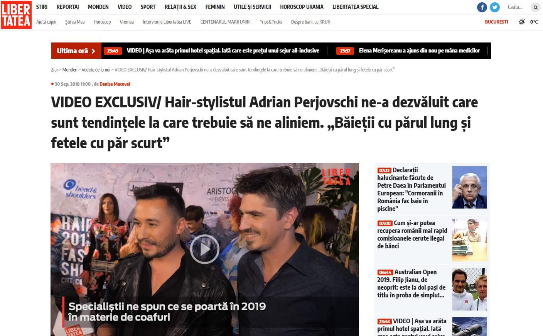 """VIDEO EXCLUSIV/ Hair-stylistul Adrian Perjovschi ne-a dezvăluit care sunt tendințele la care trebuie să ne aliniem. """"Băieții cu părul lung și fetele cu păr scurt"""" Citeşte întreaga ştire: VIDEO EXCLUSIV/ Hair-stylistul Adrian Perjovschi ne-a dezvăluit care sunt tendințele la care trebuie să ne aliniem. """"Băieții cu părul lung și fetele cu păr scurt"""""""