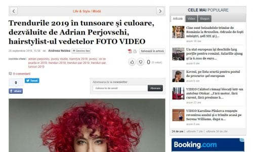 Trendurile 2019 în tunsoare şi culoare, dezvăluite de Adrian Perjovschi, hairstylist-ul vedetelor FOTO VIDEO Citeste mai mult: adev.ro/pfrnj1
