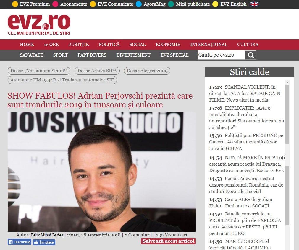 SHOW FABULOS! Adrian Perjovschi prezintă care sunt trendurile 2019 în tunsoare și culoare