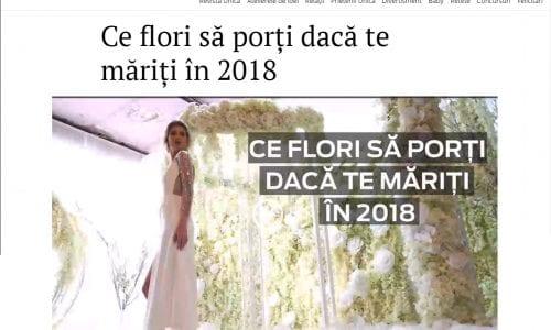 Ce flori să porți dacă te măriți în 2018